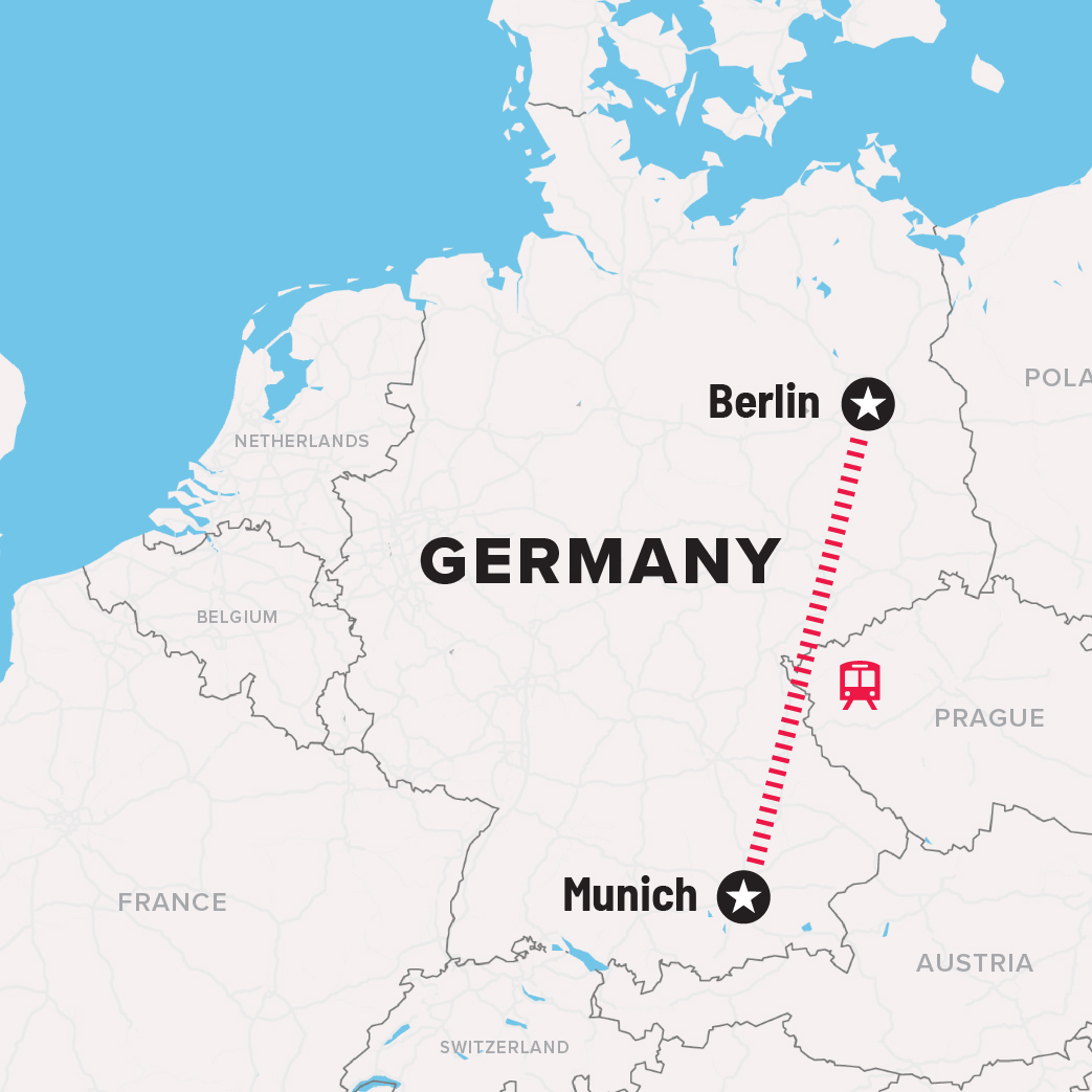 Itinerary map of germany